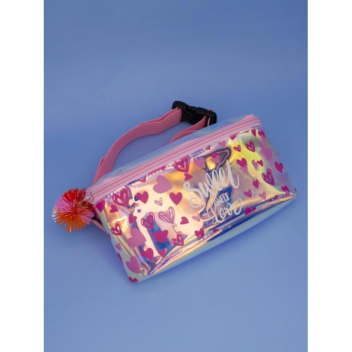 Картинка для Сумки для детей Mihi Mihi Поясная сумочка с помпоном Hearts
