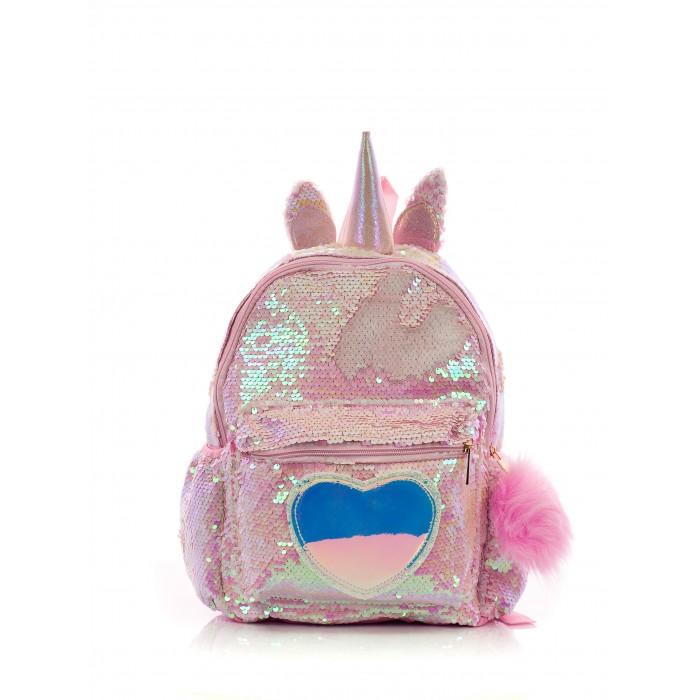 Mihi Mihi Рюкзак с пайетками Единорог с сердцем Bright Dreams с помпоном фото
