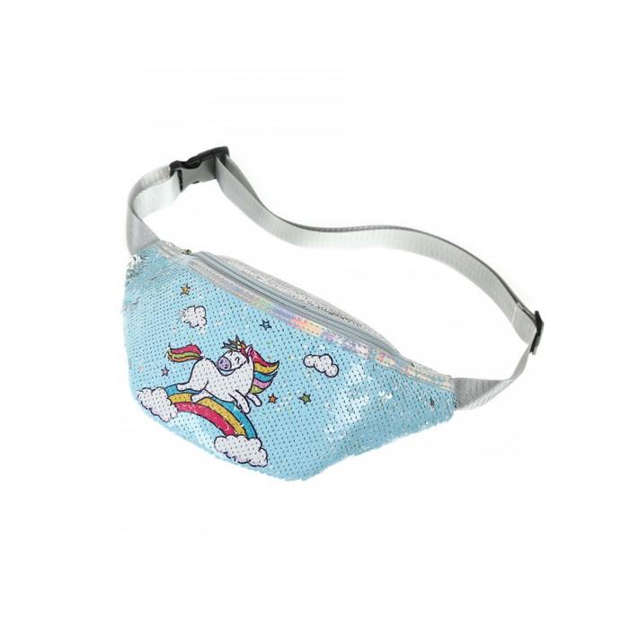 Купить Сумки для детей, Mihi Mihi Сумочка поясная с пайетками Единорог бегущий по радуге