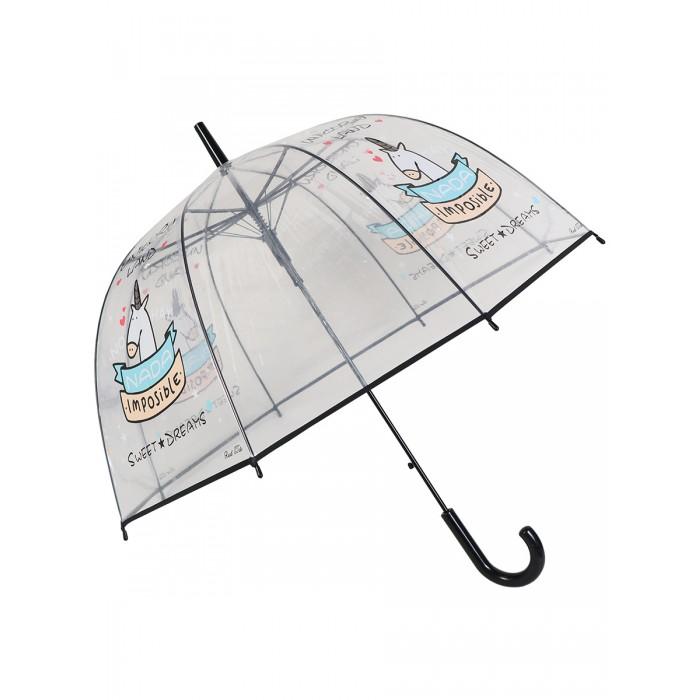 Зонты Mihi Mihi трость Единорог Sweet Dreams прозрачный купол