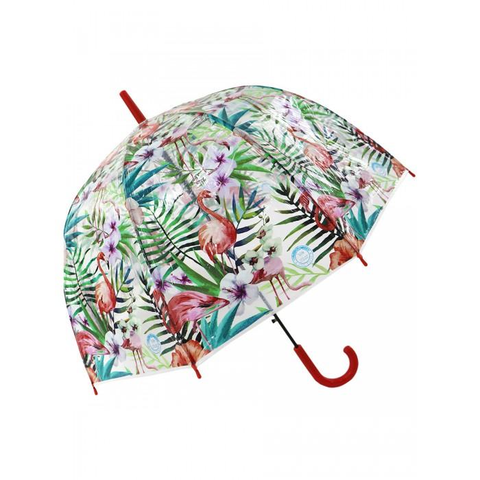 Зонты Mihi Mihi 7410 трость Тропический Фламинго прозрачный купол