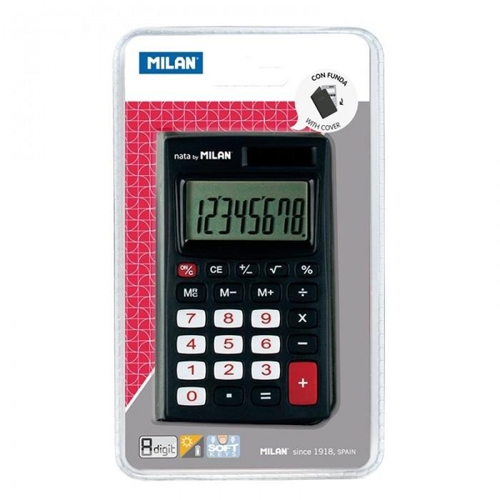 Канцелярия Milan Калькулятор карманный 8 разрядов двойное питание 102х67х9 мм