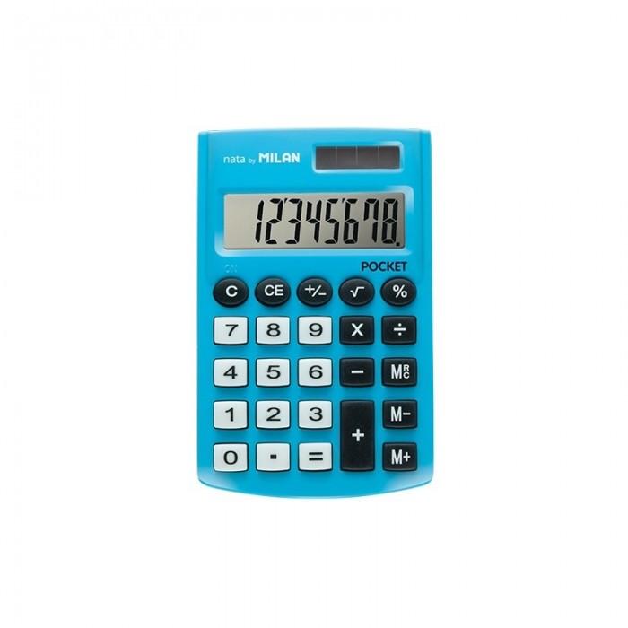 Канцелярия Milan Калькулятор карманный 8 разрядов двойное питание 907х620х80 мм