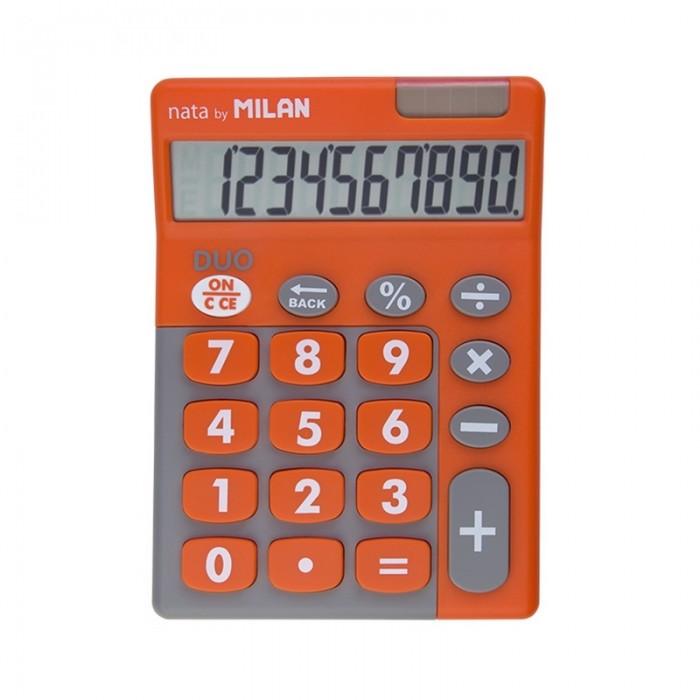 Milan Калькулятор настольный 10 разрядов двойное питание 145х106х21 мм Duo