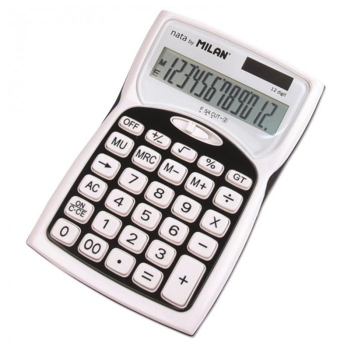 Картинка для Milan Калькулятор настольный полноразмерный 12 разрядов 1152012BL
