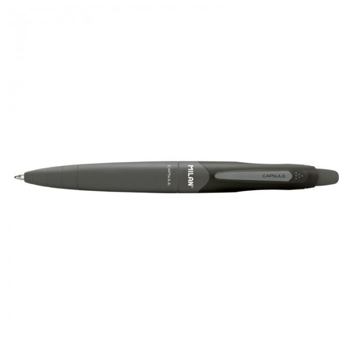 Канцелярия Milan Ручка шариковая Capsule 1,0 мм 17656590220 канцелярия lejoys ручка шариковая с колпачком в корпусе из бамбука черная 13 5 см
