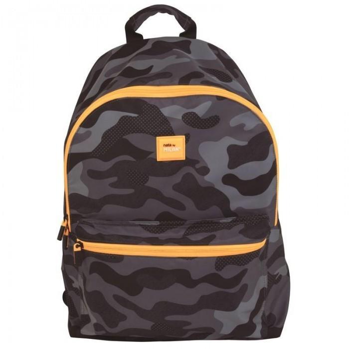 Сумки для детей Milan Рюкзак школьный Camouflage 41х30х18 см 624605BM рюкзак школьный beifa 38х30х16 см сине зеленый