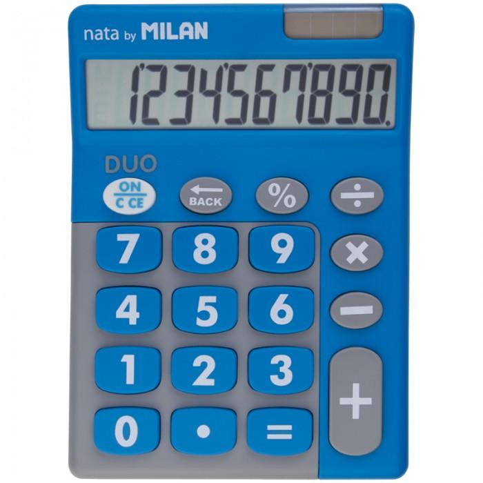 Канцелярия Milan Калькулятор настольный 10 разрядов двойное питание 145х106х21 мм Duo