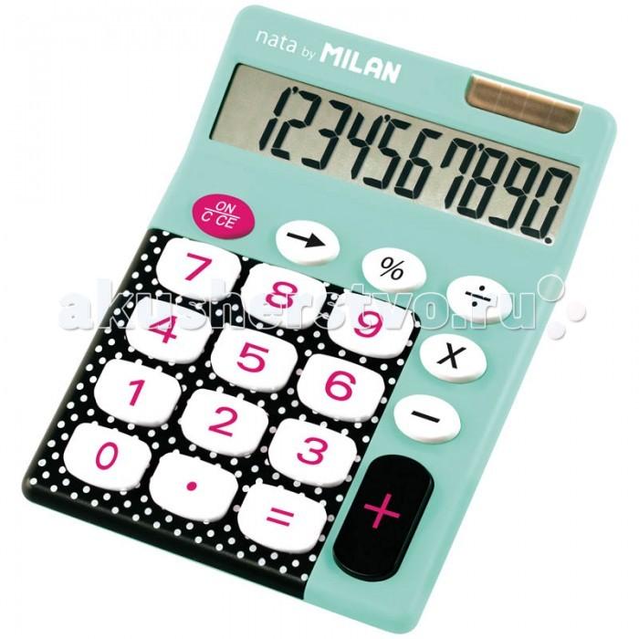 Канцелярия Milan Калькулятор настольный 10 разрядов двойное питание 145х106х21 мм канцелярия milan калькулятор настольный 10 разрядов двойное питание 145x106x21 мм mix