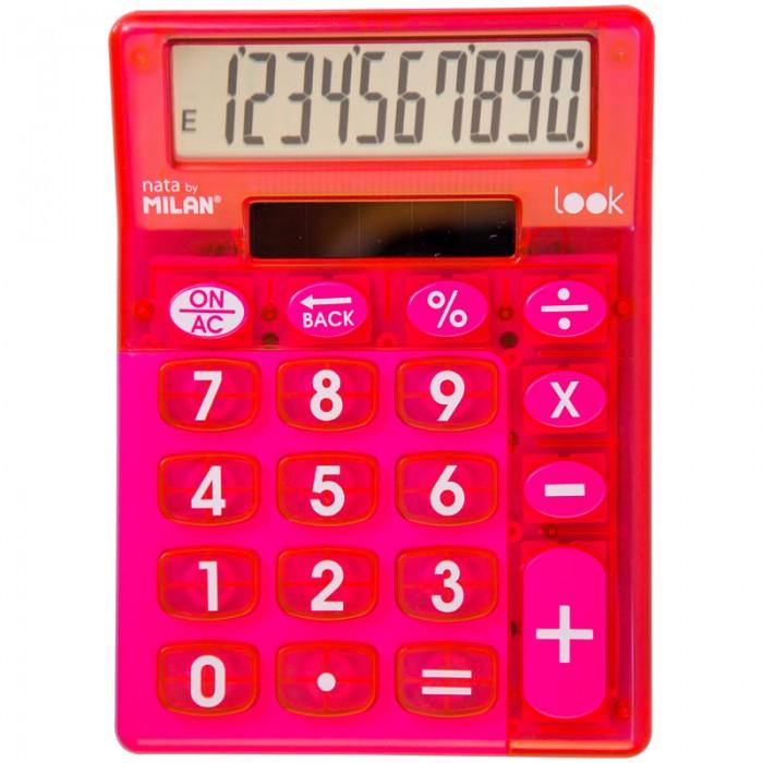 Канцелярия Milan Калькулятор настольный 10 разрядов двойное питание 145х106х21 мм Look канцелярия milan калькулятор настольный 10 разрядов двойное питание 145x106x21 мм mix