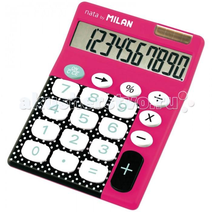 Канцелярия Milan Калькулятор настольный 10 разрядов двойное питание 145х106х21 мм
