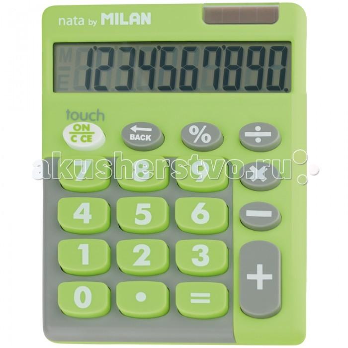 Канцелярия Milan Калькулятор настольный 10 разрядов двойное питание 145х106х21 мм Touch