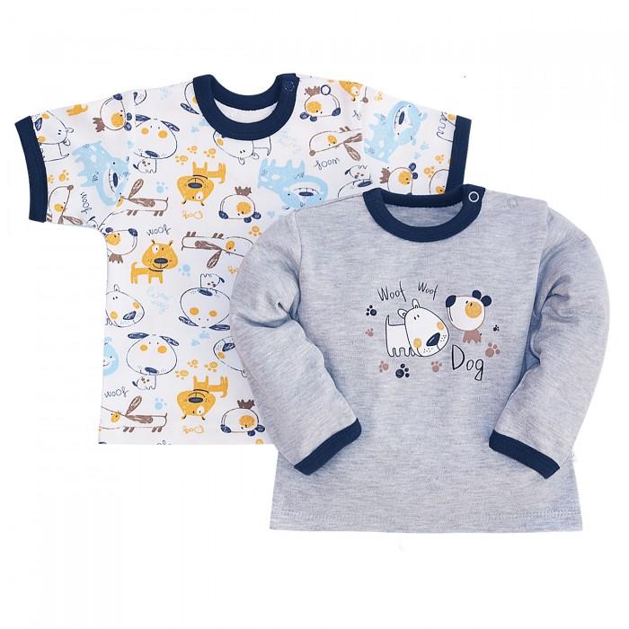 Картинка для Джемперы и кардиганы Milimbi Комплект джемпер и футболка Пёсики
