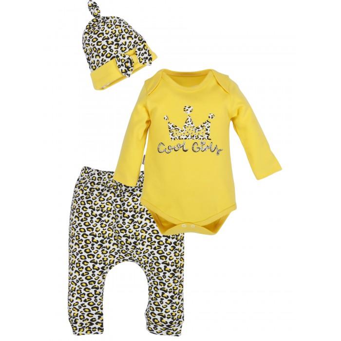 Mini World Комплект для девочки (боди, брюки, шапка) MW14831