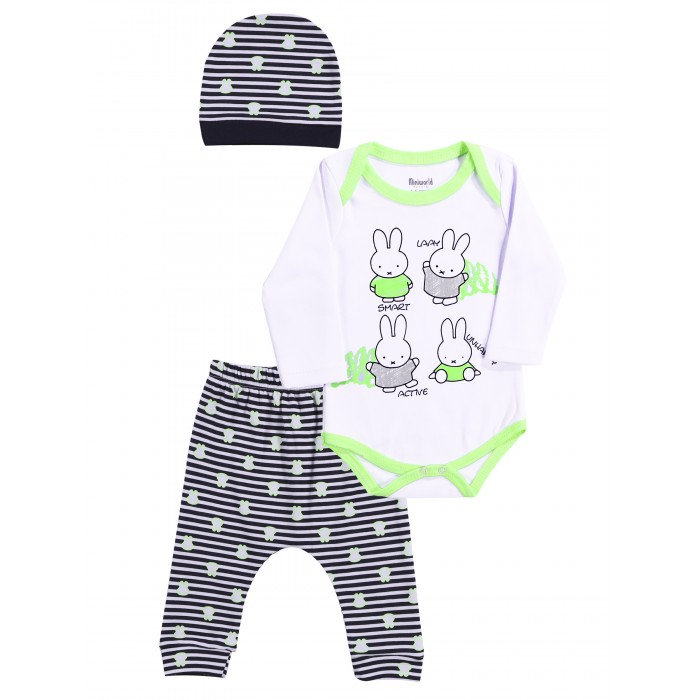 Mini World Комплект для девочки (боди, брюки, шапка) MW15048 фото
