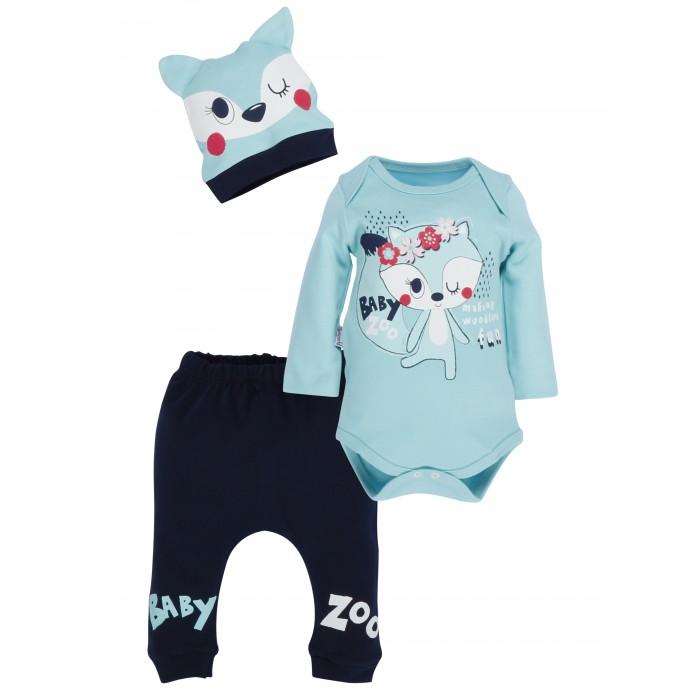Фото - Комплекты детской одежды Mini World Комплект для девочки (боди, брюки, шапка) комплекты детской одежды mini world комплект для девочки туника бриджи