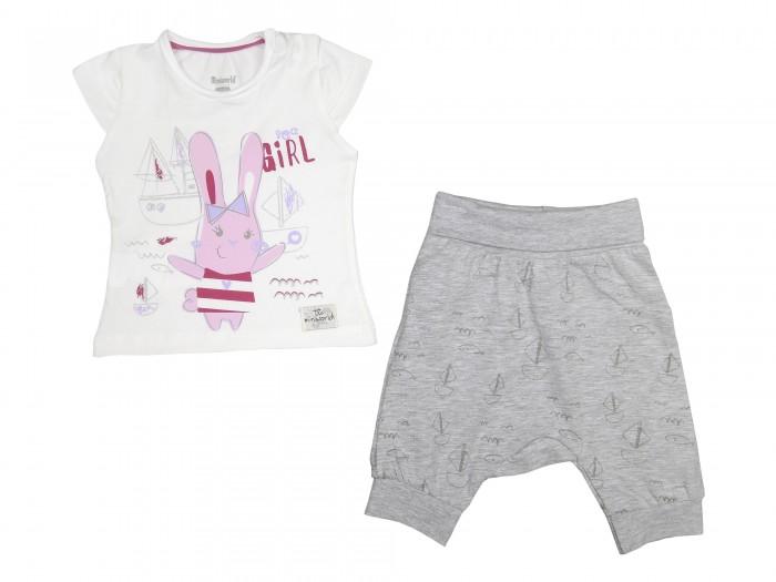 Комплекты детской одежды Mini World Комплект для девочки (футболка, бриджи) MW14363 часы mini world mn1012a