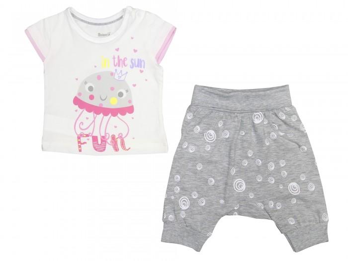 Комплекты детской одежды Mini World Комплект для девочки (футболка, бриджи) MW14365 комплекты детской одежды mini world подарочный набор для девочки 5 предм��тов mw13908