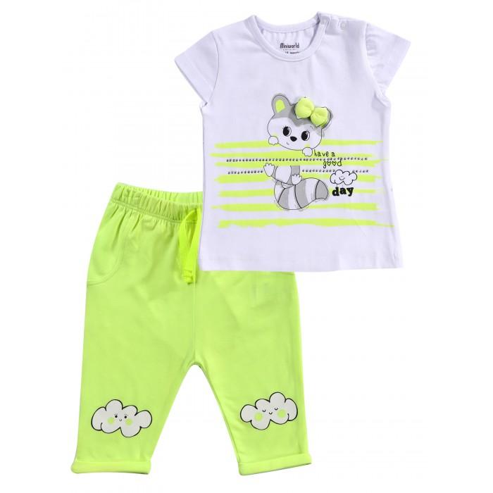 Mini World Комплект для девочки (футболка, бриджи) MW14923