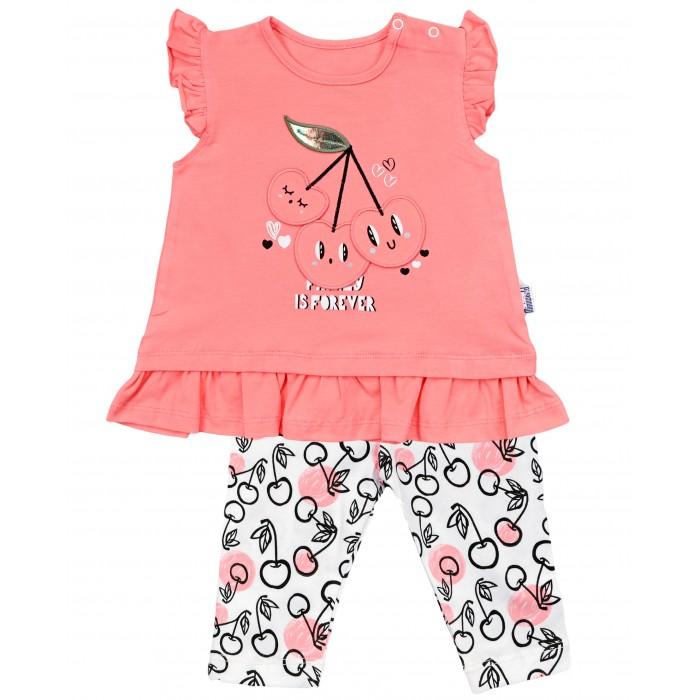 Фото - Комплекты детской одежды Mini World Комплект для девочки: футболка и бриджи MW15537 комплекты детской одежды mini world комплект для девочки туника бриджи