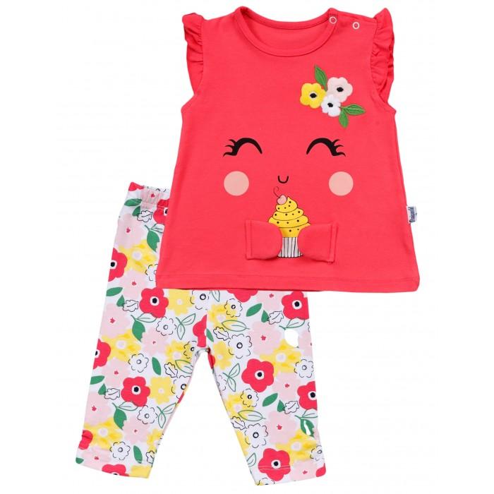 Фото - Комплекты детской одежды Mini World Комплект для девочки: футболка и бриджи MW15678 комплекты детской одежды mini world комплект для девочки туника бриджи