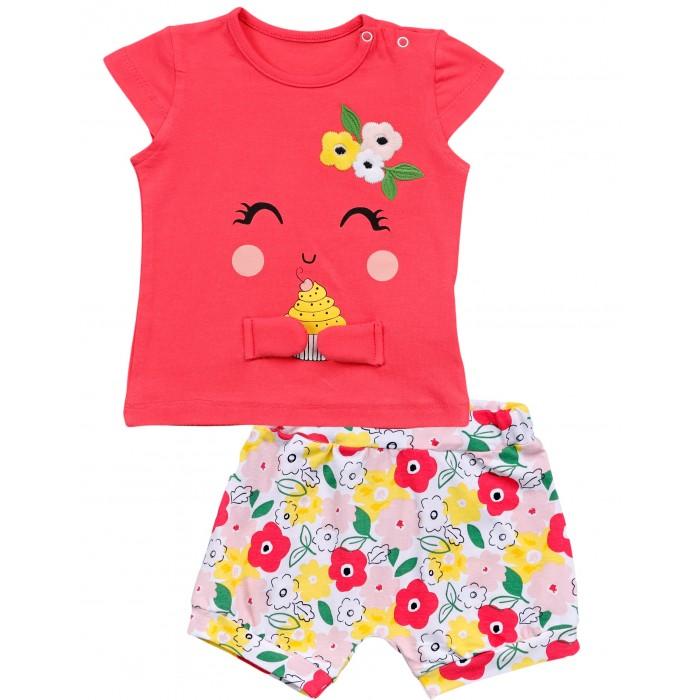 Фото - Комплекты детской одежды Mini World Комплект для девочки: футболка и шорты MW15675 комплекты детской одежды mini world комплект для девочки туника бриджи