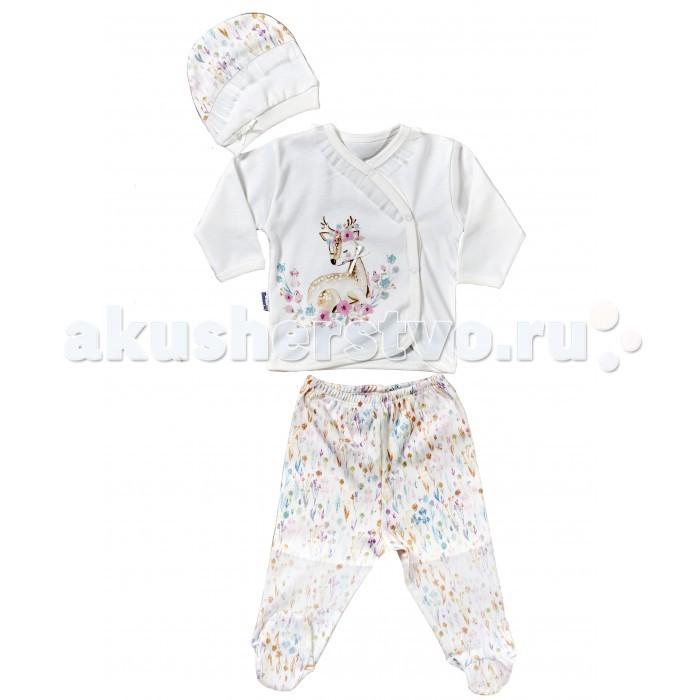 Комплекты детской одежды Mini World Комплект для девочки (кофта, ползунки, шапка) MW14241 комплекты детской одежды mini world подарочный набор для девочки 5 предм��тов mw13908