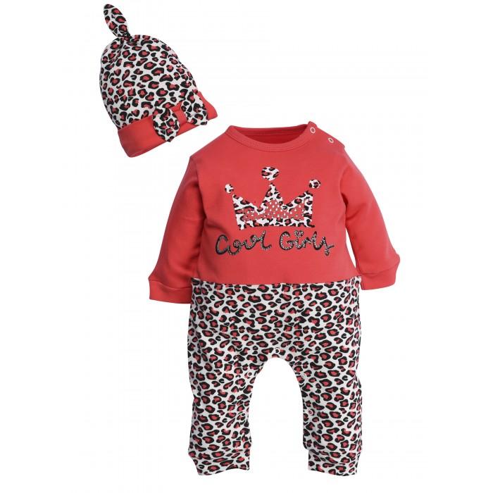 Mini World Комплект для девочки (комбинезон, шапка) MW14832