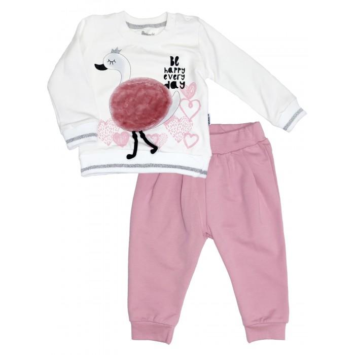 Картинка для Комплекты детской одежды Mini World Комплект для девочки (лонгслив, брюки) MW15250