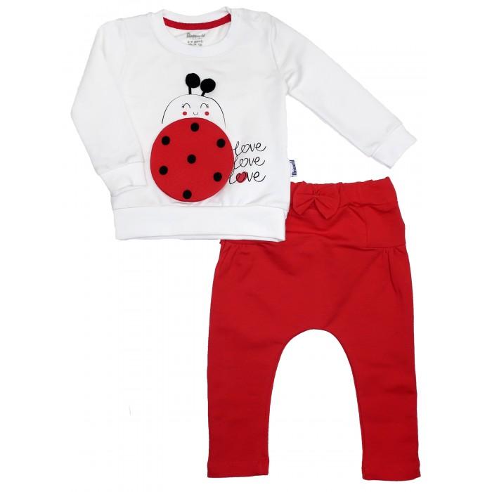 Картинка для Комплекты детской одежды Mini World Комплект для девочки (лонгслив, брюки) MW15278