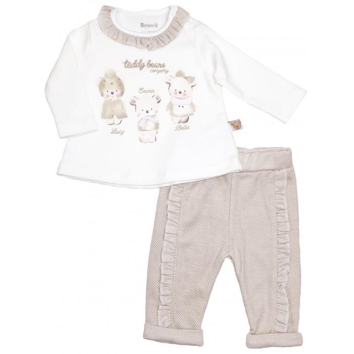 Картинка для Комплекты детской одежды Mini World Комплект для девочки (лонгслив, брюки) MW15436