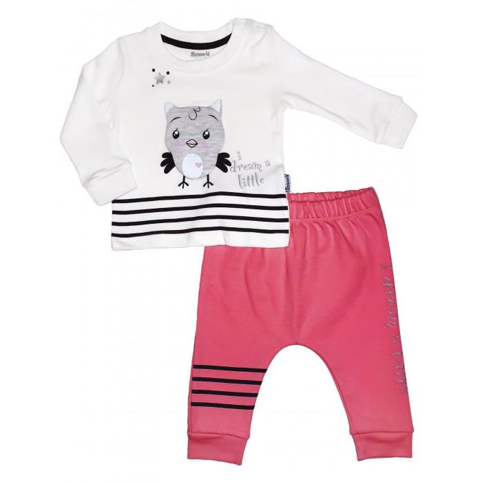 Картинка для Комплекты детской одежды Mini World Комплект для девочки (лонгслив и брюки) MW15150