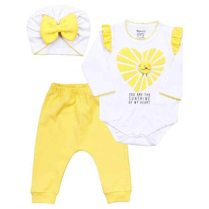 Фото - Комплекты детской одежды Mini World Комплект для девочки MW15916 комплекты детской одежды mini world комплект для девочки туника бриджи
