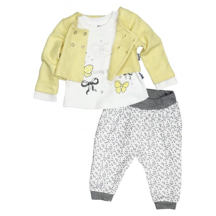 Картинка для Комплекты детской одежды Mini World Комплект для девочки (жакет, лонгслив, брюки) MW15266