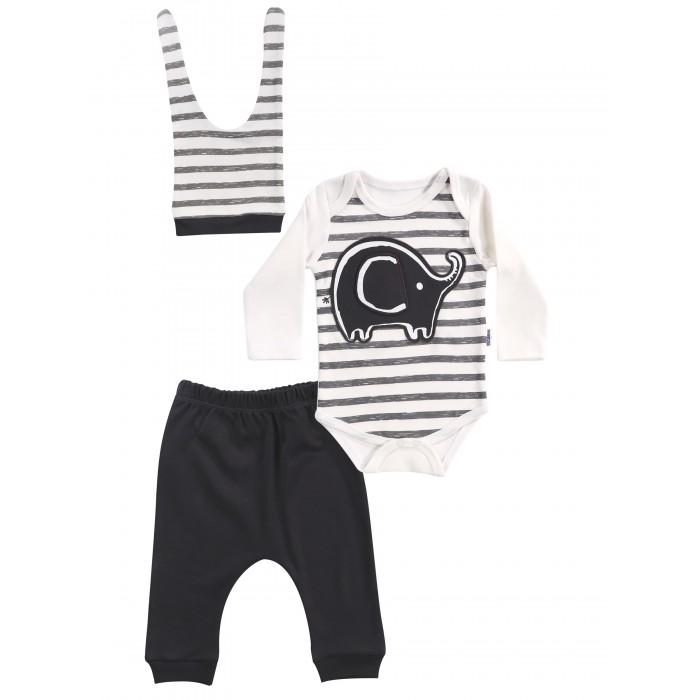 Mini World Комплект для мальчика (боди, брюки, шапка) MW14862