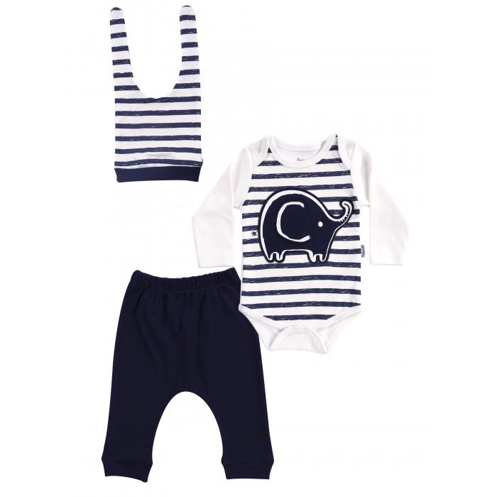 Купить Комплекты детской одежды, Mini World Комплект для мальчика (боди, брюки, шапка) MW14862