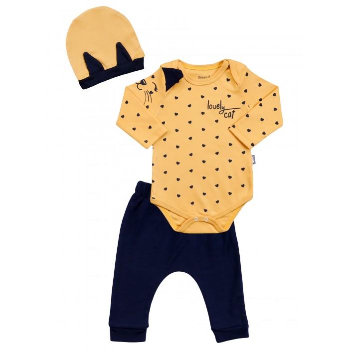 Картинка для Mini World Комплект для девочки (боди, брюки, шапка) MW15298