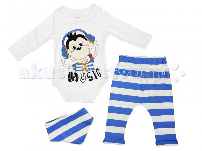 Комплекты детской одежды Mini World Комплект для мальчика (боди, штаны, нагрудник) MW14388 часы mini world mn1012a