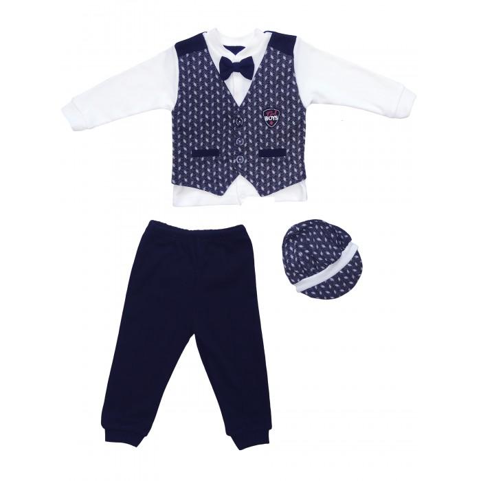Картинка для Комплекты детской одежды Mini World Комплект для мальчика (кофта, брюки и шапка)
