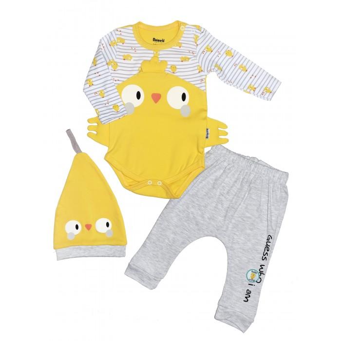 Картинка для Комплекты детской одежды Mini World Комплект для новорожденного (боди, брюки и шапка) MW15408