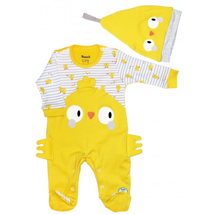 Картинка для Комплекты детской одежды Mini World Комплект для новорожденного (комбинезон и шапка) MW15404