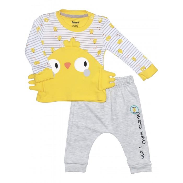 Картинка для Комплекты детской одежды Mini World Комплект для новорожденного (лонгслив и брюки) MW15408