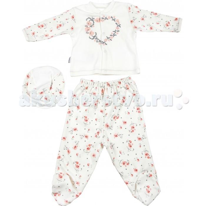 Комплекты детской одежды Mini World Комплект для девочки MW13542 комплекты детской одежды клякса комплект для девочки из кофточки и ползунков