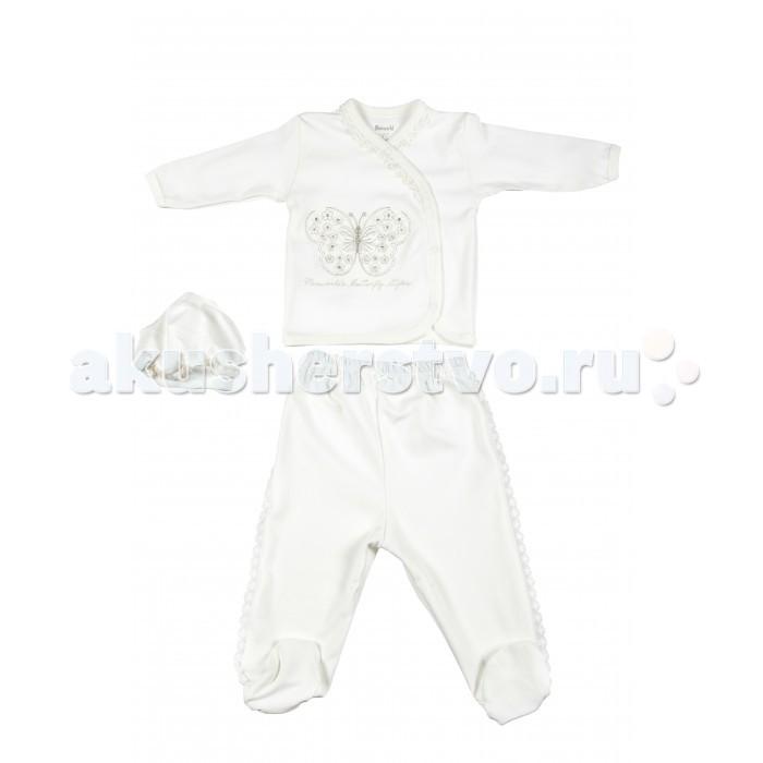 Комплекты детской одежды Mini World Комплект для девочки MW13567 комплекты детской одежды клякса комплект для девочки из кофточки и ползунков