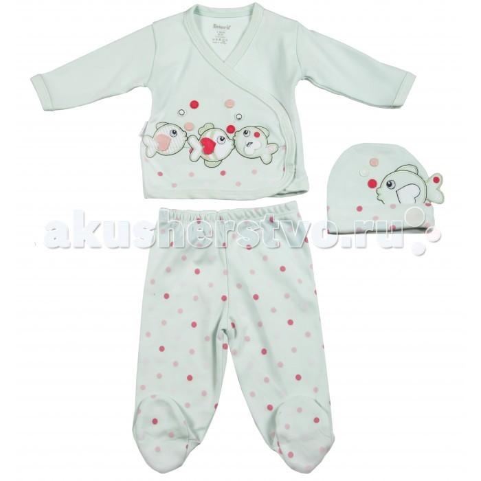 Комплекты детской одежды Mini World Комплект для девочки MW13728 комплекты детской одежды клякса комплект для девочки из кофточки и ползунков