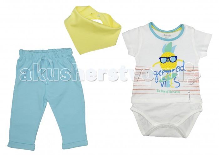 Картинка для Комплекты детской одежды Mini World Комплект для мальчика (боди, брюки, косынка) MW13844