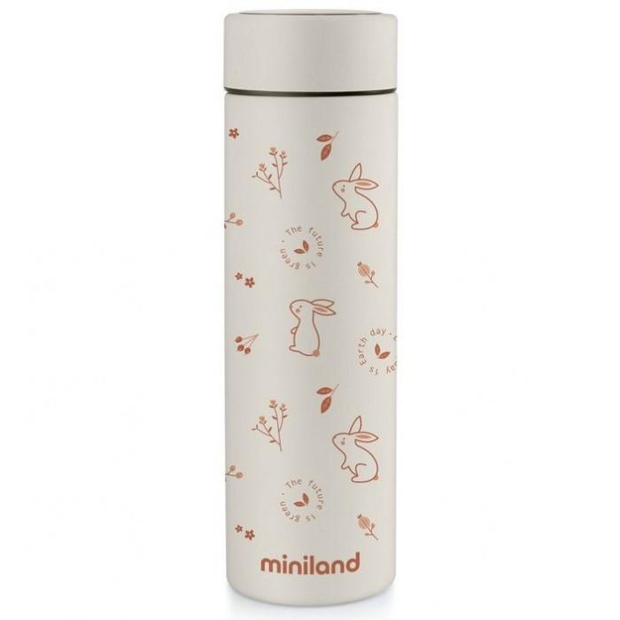 Термосы, Термос Miniland для жидкостей Natur Thermos зайчики 450 мл  - купить со скидкой