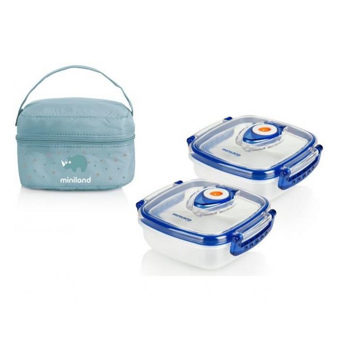 Купить Термосумки, Miniland Термосумка Pack-2-Go Hermisized с 2 вакуумными контейнерами 2х330 мл