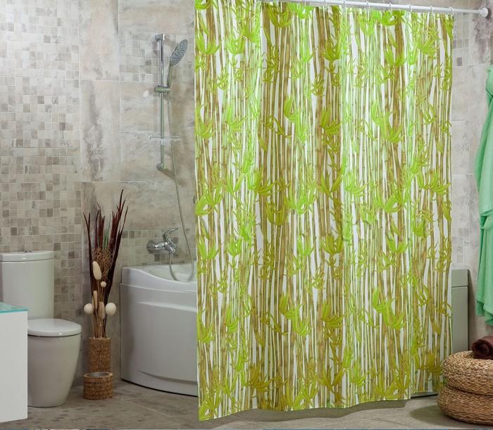 Купить Шторы для ванны, Miranda Шторы для ванн полиэстер Bamboos 180х200 см