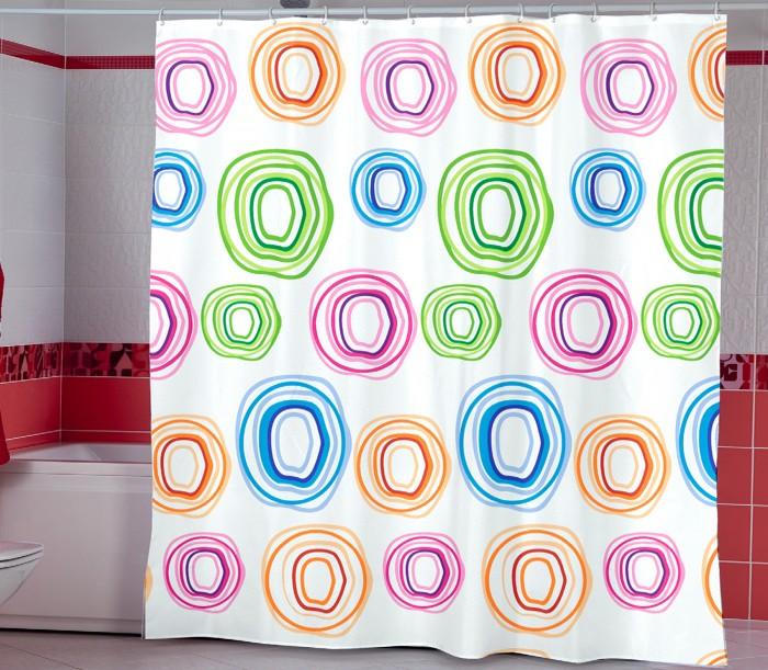 Купить Шторы для ванны, Miranda Шторы для ванн полиэстер Colorol Circle 180х200 см
